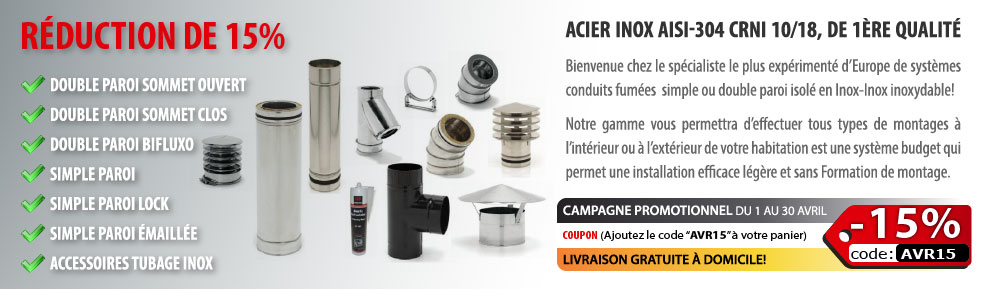 Conduit Inox - R�duction 15%
