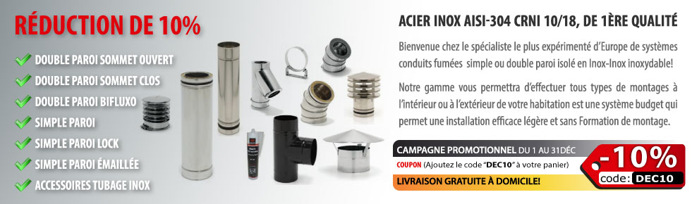 Conduit Inox - R�duction 10%