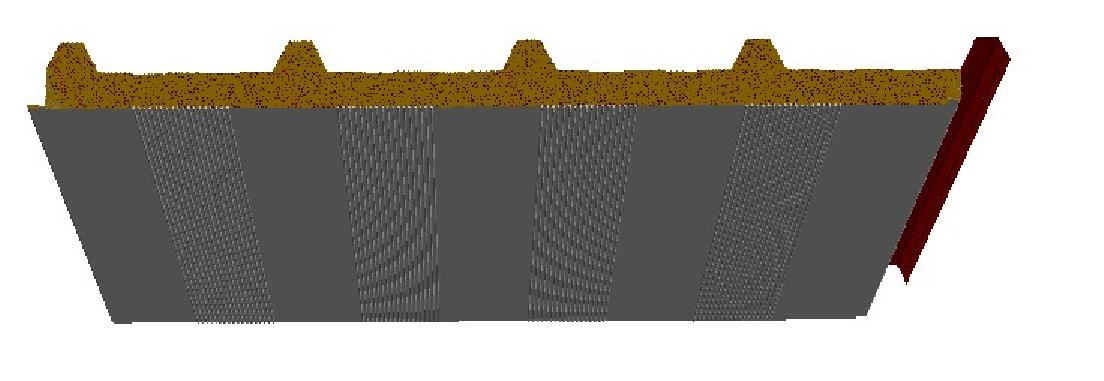 panneaux sandwich autoportant isolant en laine de roche couverture profil perfur en bande. Black Bedroom Furniture Sets. Home Design Ideas