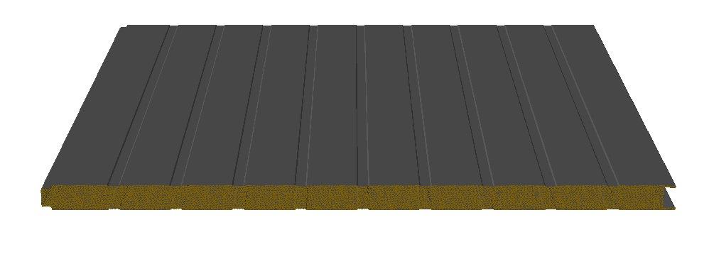 panneaux sandwich autoportant isolants en laine roche pour. Black Bedroom Furniture Sets. Home Design Ideas