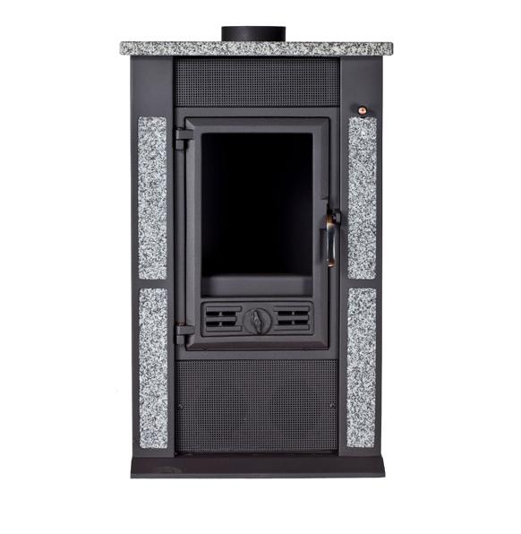 po le bois avec d coration en pierre 10kw rendement 76 pedrafrente tp mat riaux. Black Bedroom Furniture Sets. Home Design Ideas