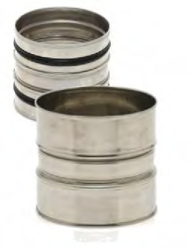 raccord de tube en inox 304 simple paroi lock conduit fum e du 80 au 400 mm vm syst me. Black Bedroom Furniture Sets. Home Design Ideas