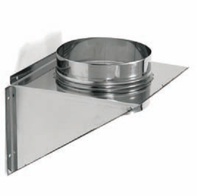 Support mural en inox 304 pour tube simple paroi vm for Support mural cuisine inox