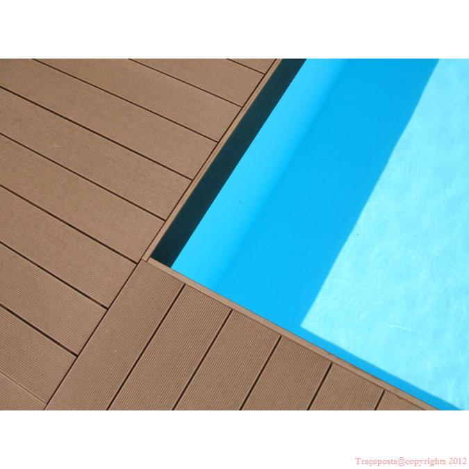 Tradeck Lames Terrasse Composite 50 Bois 50 Pvc Blanc