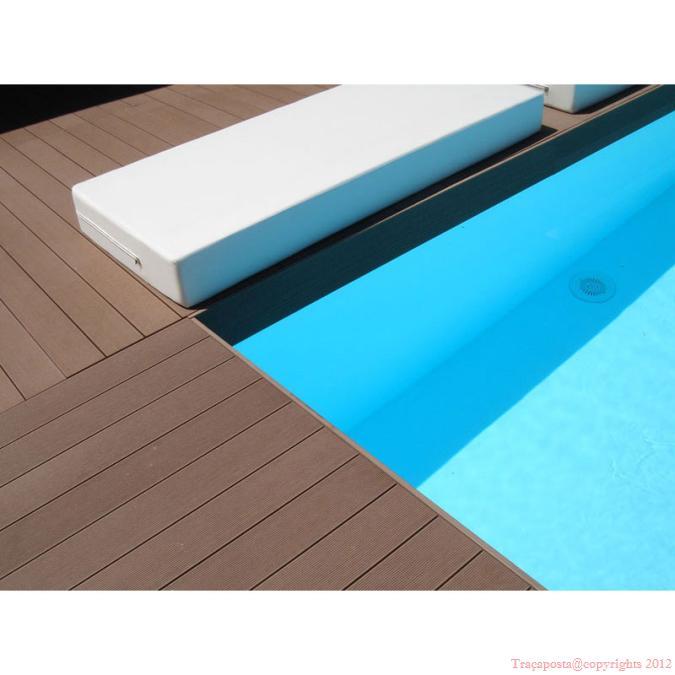 tradeck lames terrasse bois composite 50 bois 50 pvc noir 2200x150x28mm. Black Bedroom Furniture Sets. Home Design Ideas