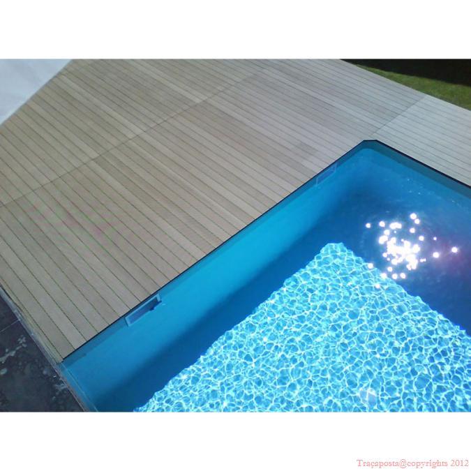 tradeck lames terrasse bois composite 50 bois 50 pvc blanc 2200x150x28mm. Black Bedroom Furniture Sets. Home Design Ideas