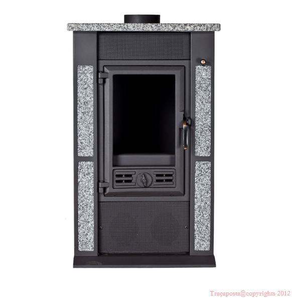 po le bois avec d coration en pierre 10kw rendement. Black Bedroom Furniture Sets. Home Design Ideas