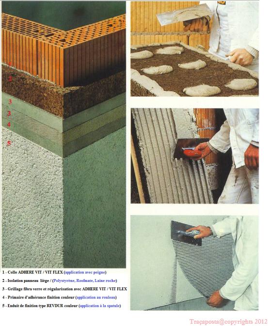 Colle adhere vit collage d 39 isolation par ext rieur pse for Isolation exterieur xps