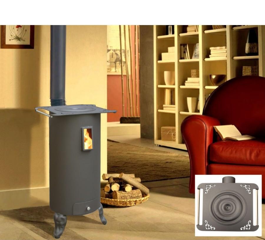 po le bois rond rustica 7 5kw rendement 65 3. Black Bedroom Furniture Sets. Home Design Ideas